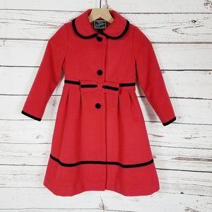 Rothschild   Red and Black Girls Dress Coat